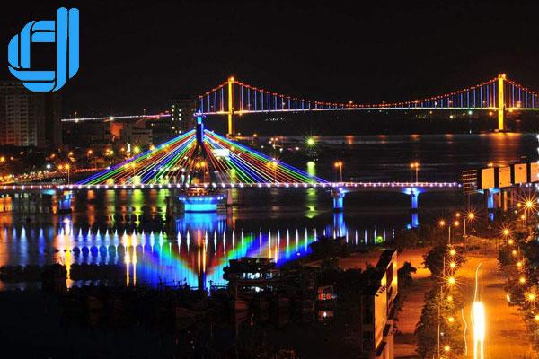 Kết quả hình ảnh cho cầu quay sông hàn d2tour