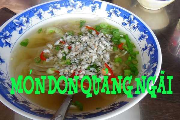 Don Quảng Ngãi - món đặc sản dân dã miền ven sông