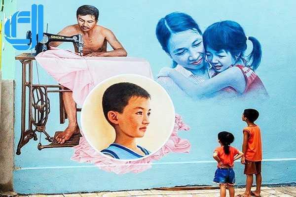 Làng Bích Họa Tam Thanh, điểm đến của sắc màu tuổi thơ